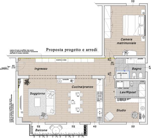 Progetto per la ristrutturazione di un appartamento on behance for Progetto di ristrutturazione