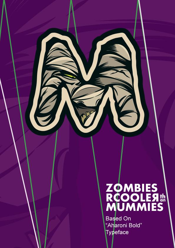 said swayssi illustrative typography zombies Love Firefighter fake vector chocolate honey ninja guitar rock los bandida Gringo