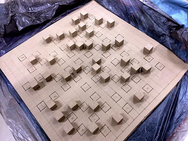 sculpture ceramic sculpture stoneware geometry abstract Marek Jacisin Harvard Ceramics Studio Ceramics Program OFA