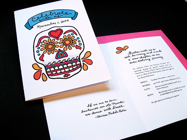 Day Of The Dead Wedding Invitations: Day Of The Dead Wedding Invitation On Behance