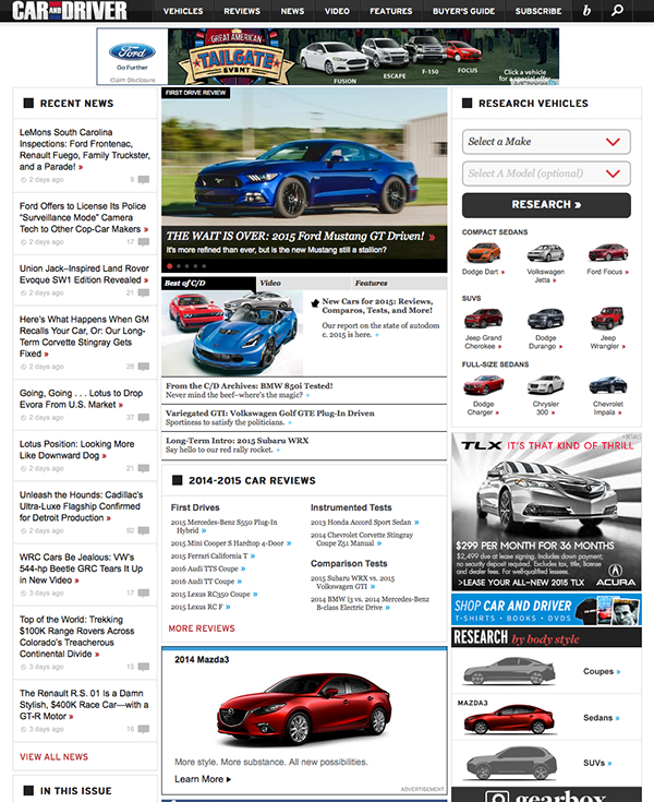 Car And Driver Website Redesign On Behance