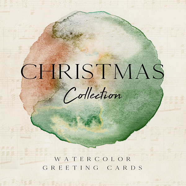 The Gallery Collection Christmas Cards.Christmas Collection Watercolor Greeting Cards On Pantone