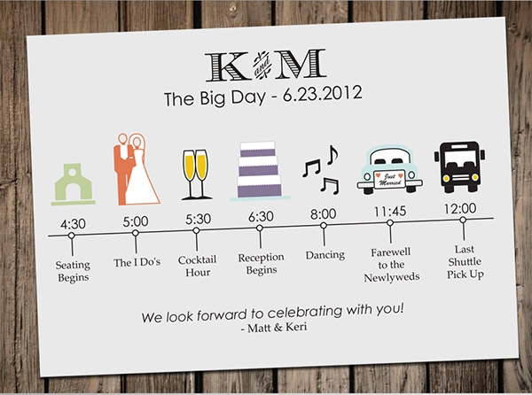 Wedding timeline card on behance junglespirit Images