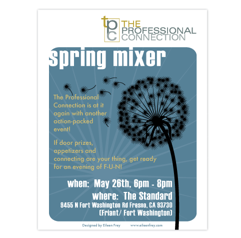 the professional connection spring event flyer on behance
