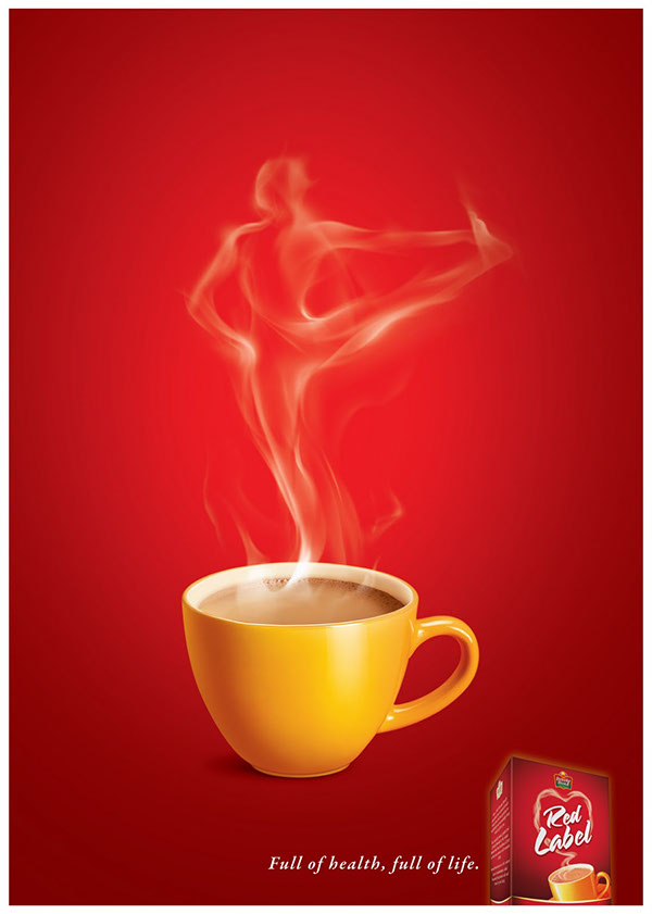 Red label healthy tea on Behance