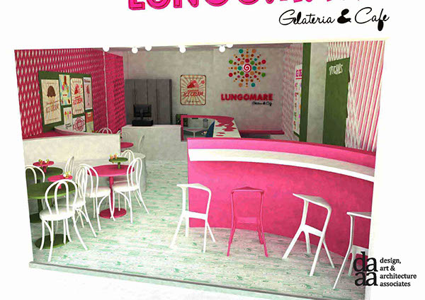 ICE CREAM PARLOR INTERIORS BRANDING WIP On Pantone Canvas Gallery Custom Parlor Interior Design Property