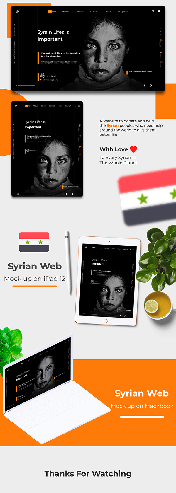 Donate For Syrian   UI UX Web Design