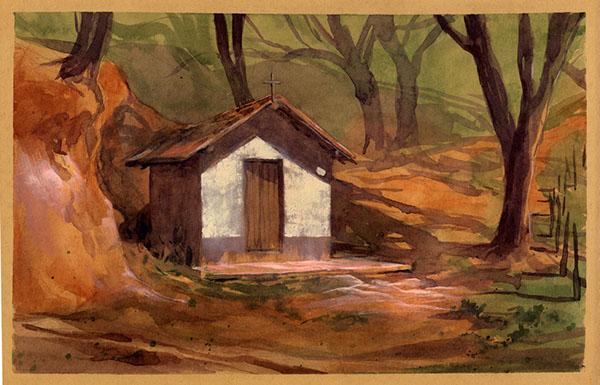 plein air watercolor gouache countryside