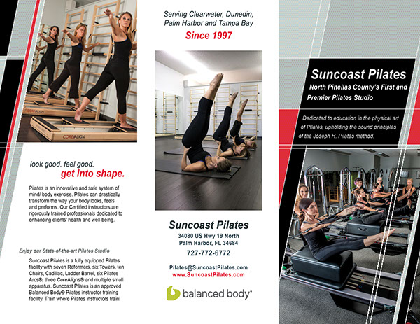 Suncoast Pilates Brochure On Behance