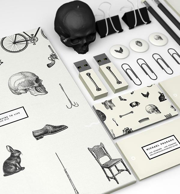 michael pharaoh michaelpharaoh magazine publication design skull old fashioned 50s 60s stationary brands brand life Guide