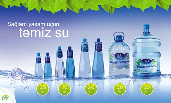 H2O Bottle & Label. on Behance