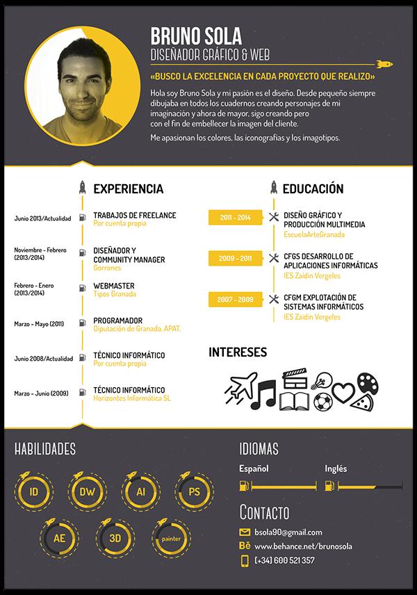 Bruno Sola Curriculum Vitae On Behance