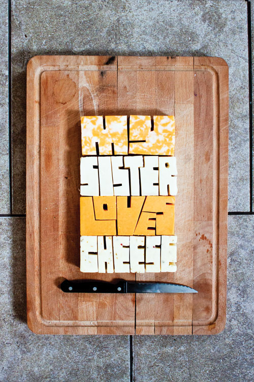 type lettering Food  play purposeful play experiment experimental Fruit food type poster look book