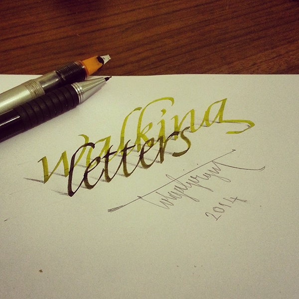 3d Lettering With Parallelpen Brushpen Pencil Part 4 On