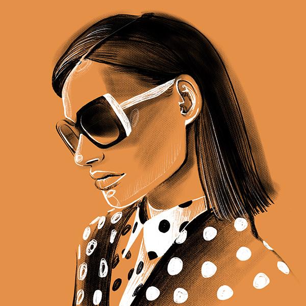Fashion girl in glasses