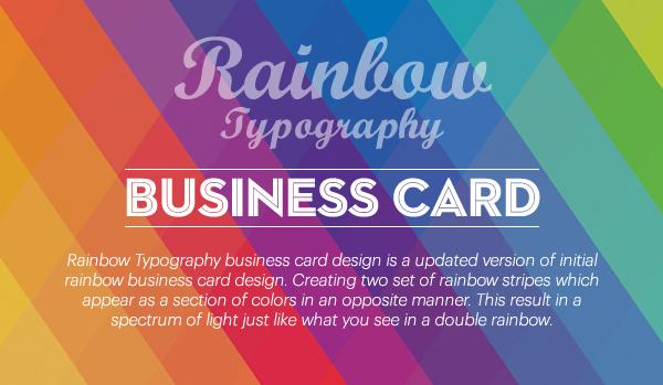 Rainbow typography business card on behance colourmoves