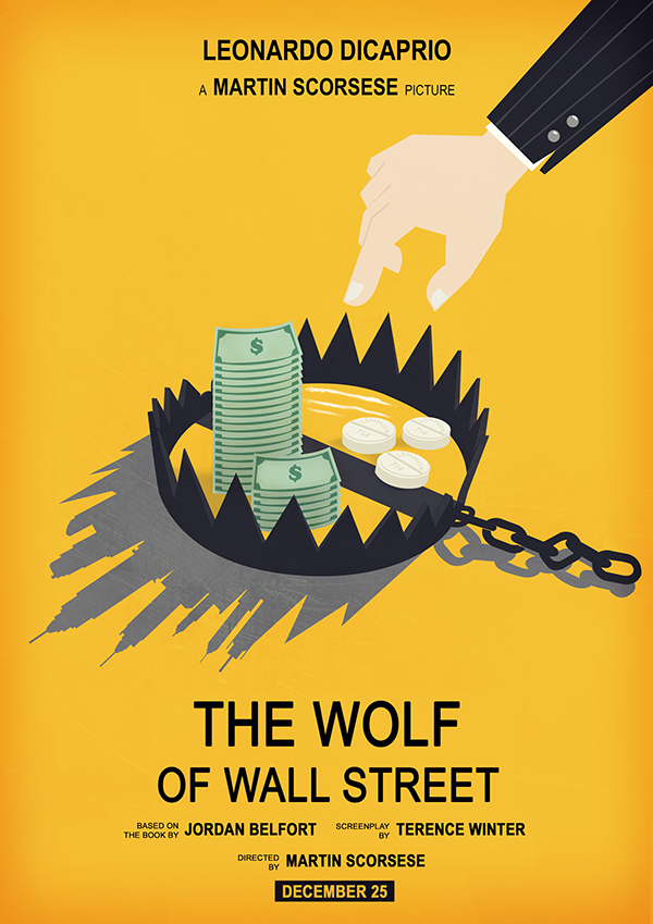 The Wolf of Wall Street movie poster on Behance