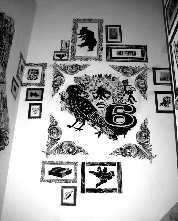 bosco paste cafe restaurant Zender Gestift black & white