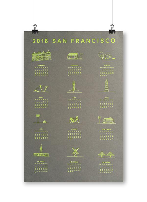 Art Calendar San Francisco : Silkscreen san francisco calendar on scad portfolios