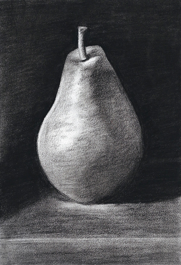 Chiaroscuro Drawing Drawing | Chiaroscuro Pear on