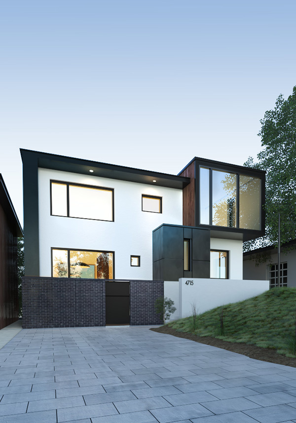 exterior black & white design 3d max corona