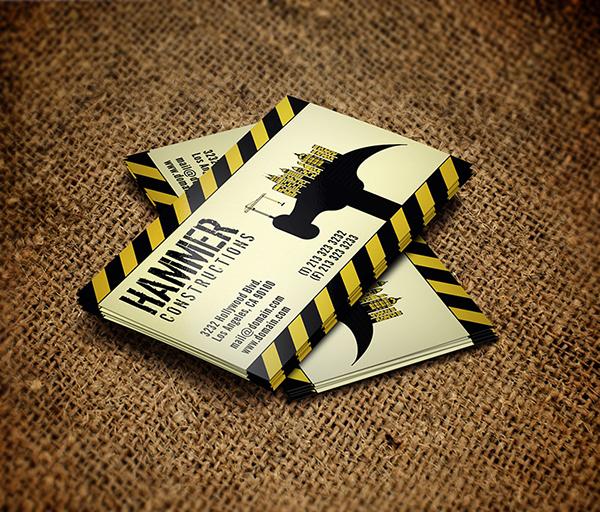 Builder construction business card on behance colourmoves Images