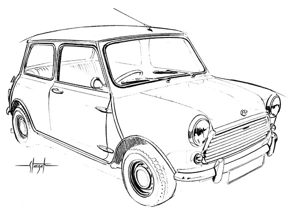 mini cooper panel coloring pages - photo#36