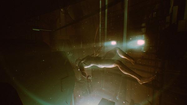 amon tobin searchers music video surreal creature human falling Dreaming ice SKY underwater light nightmare