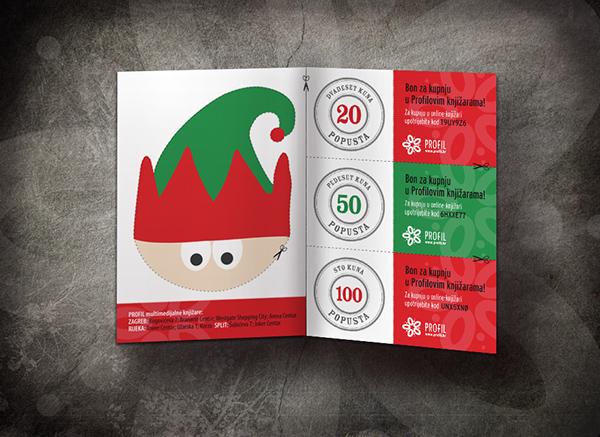 profil Christmas elf illustration Bookstore campaign