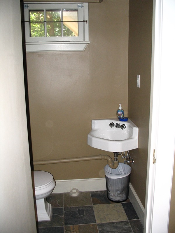 basement half bath renovation