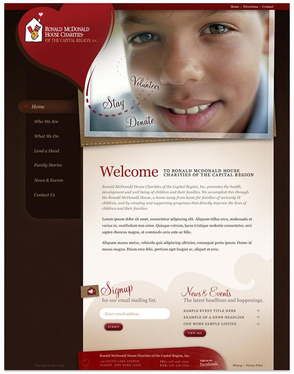 Ronald McDonald House non-profit form design