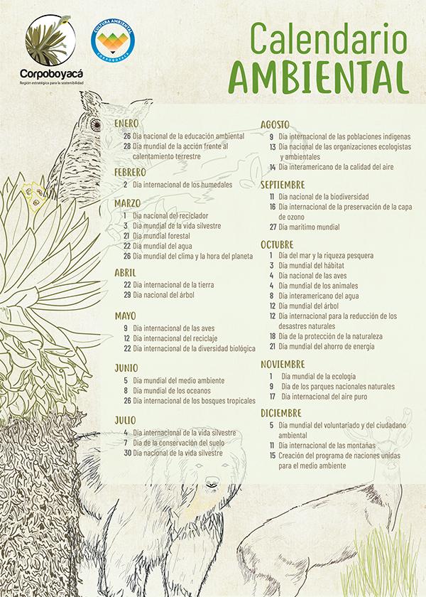 Calendario Bosque Magico 2019.Calendario Ambiental 2019 On Los Andes Portfolios