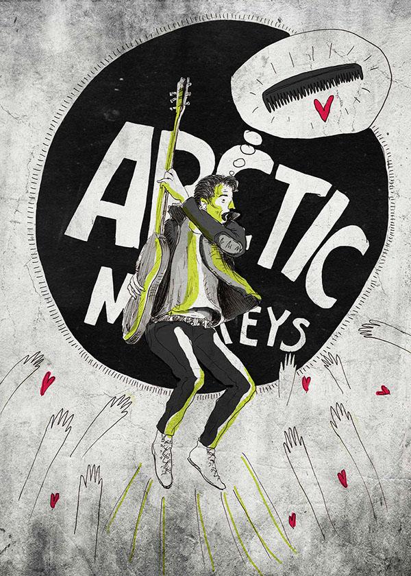 arctic monkeys Alex Turner concert poster
