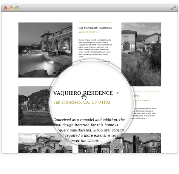 expensive Web design minimal black White gold Real estate grid-based grid Layout