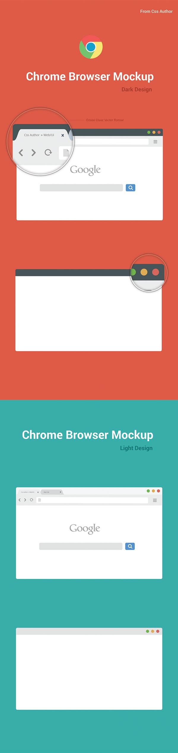free chrome browser mockup design template vector on behance