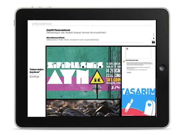 CV interaktif interactive UI mobile cv musab musabben DPS turkey graphic UI designer portfolio portfolyo ipad cv Digital Publishing interaction