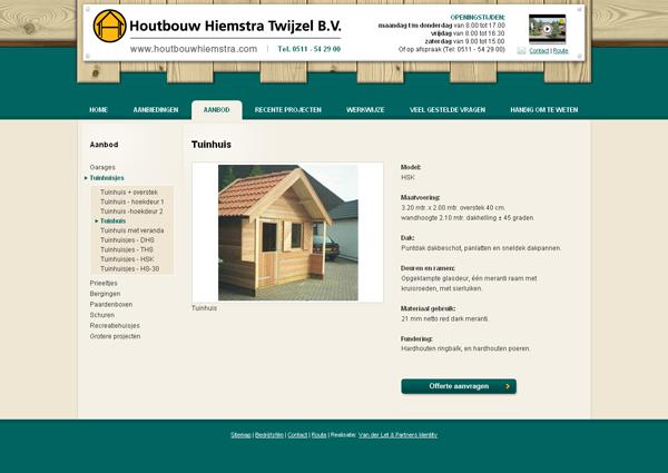 Webdesign Houtbouw Hiemstra jeroen rijpstra Van der Let & Partners Identity