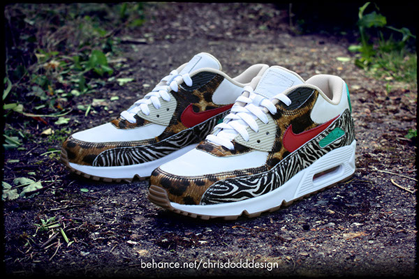 online store 1a43d a330b Atmos x Nike Air Max 90 iD Supreme 'Animal' Inspired on ...