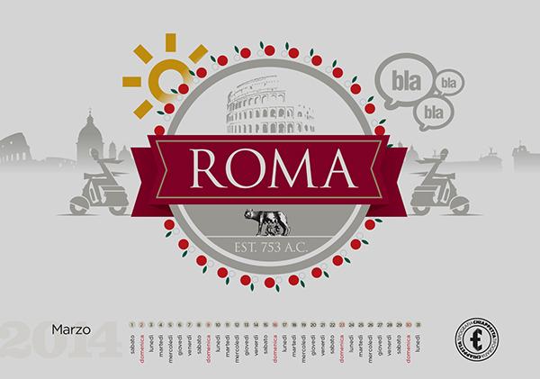 calendar calendario font tipografia chiappetta cosenza tradizione stampa pregio fedrigoni