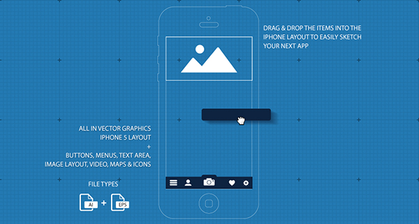 Iphone 5 ui gui blueprint app sketch on behance malvernweather Images