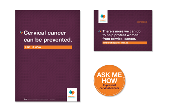 Pharmaceutical  vaccination HCP symposium nurses Cervical cancer Identity Design