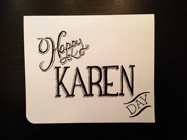 Hand Drawn Birthday Card On Behance