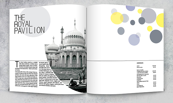 brighton city college swiss style International typographic style museum brochure square a4