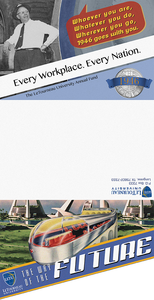 retro annual fund tri fold die cut mailer on behance