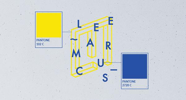 personal branding brand Name card letterhead blue yellow graphics school geometric impossible square self brand