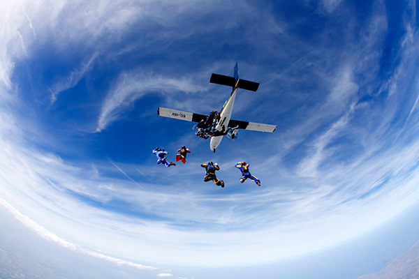 extreme Skydiving sport formation canopy freefall free fall skydive empuriabrava spain Pete Allum