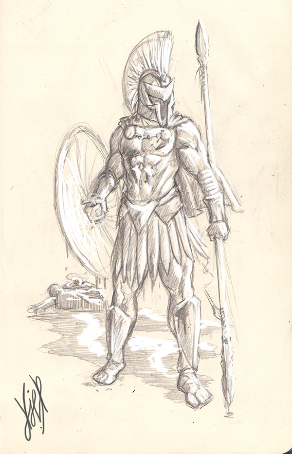 Greek God of War Drawings Ares Greek God Drawing Day