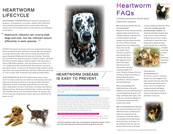 heartworm project Heartworm is here - don't risk your pet's life the latest figures from the australian heartworm surveillance project have confirmed that heartworm is found in every state and territory in the country with over 490 cases having.