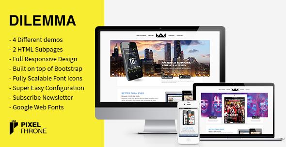 Dilemma WordPress Multi-Purpose Landing Page