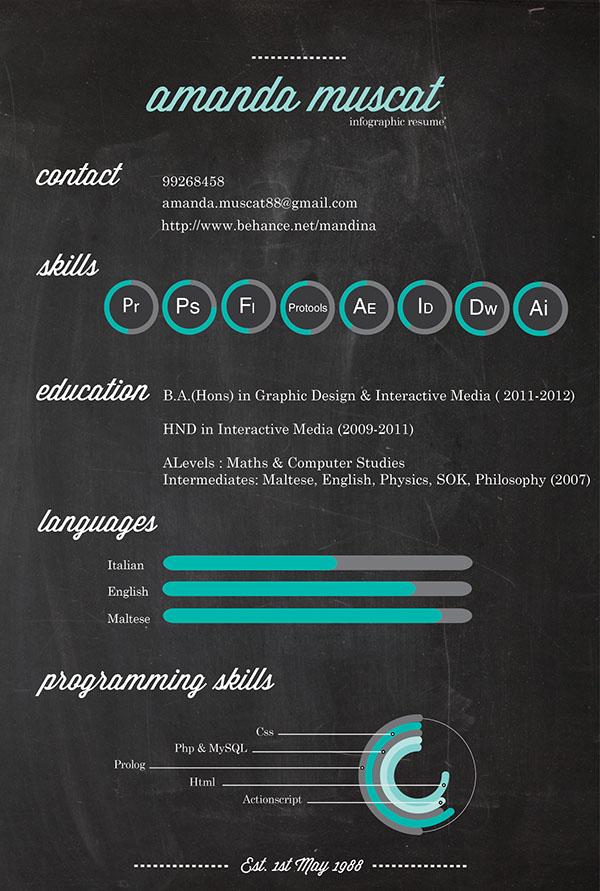 2018 resume infographics